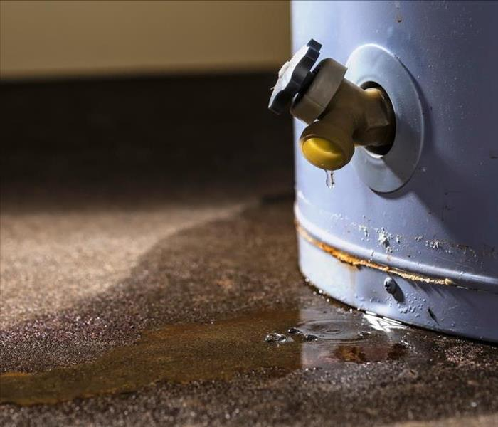 Water Damage Water Heater Leak Cleanup in Winter Park