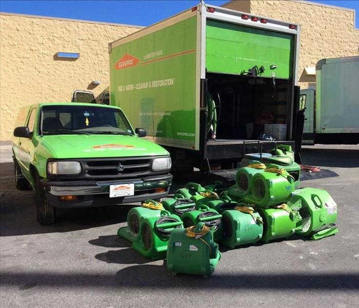 SERVPRO vehicles and equipment
